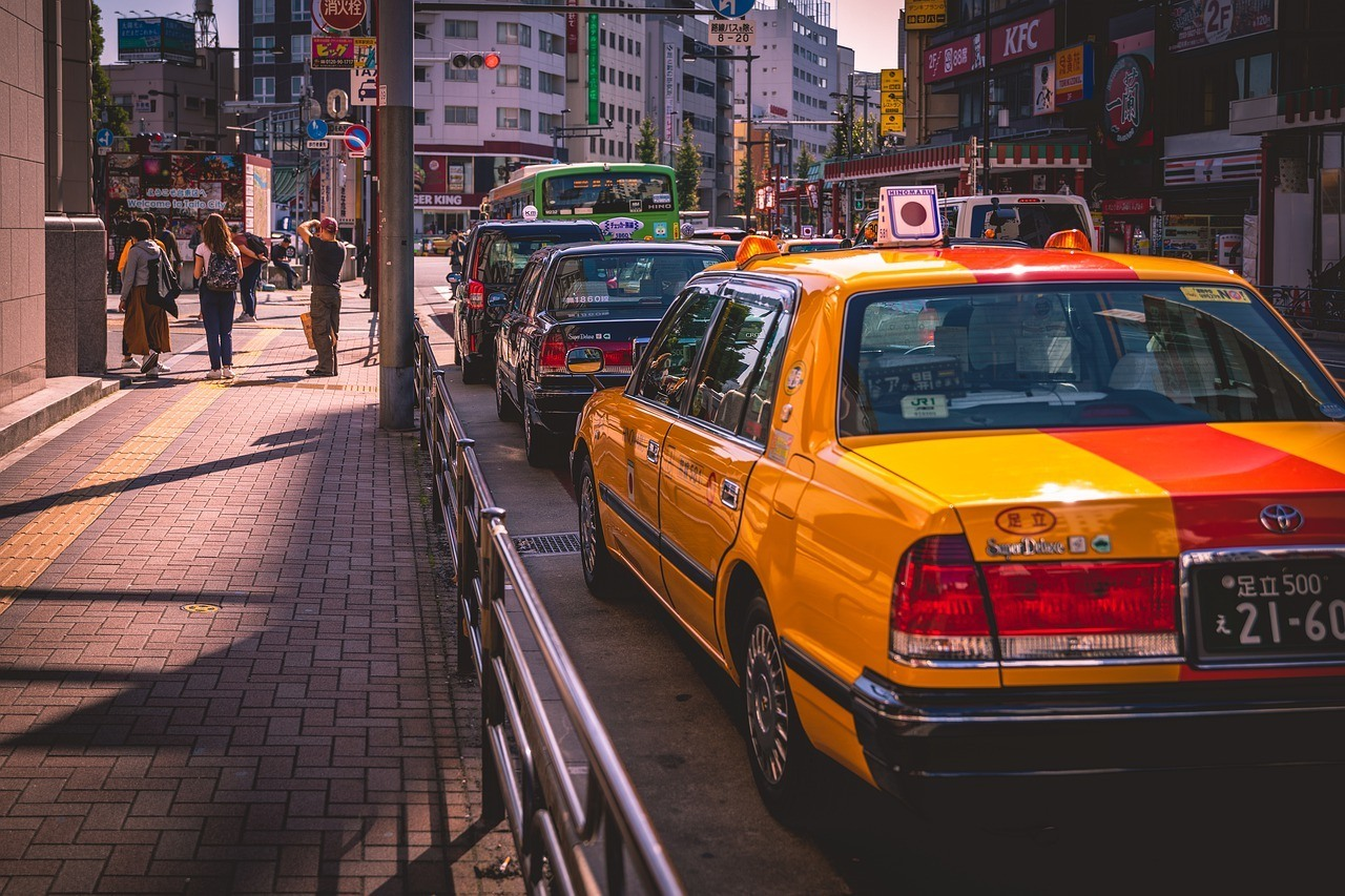 A taxi in Japan