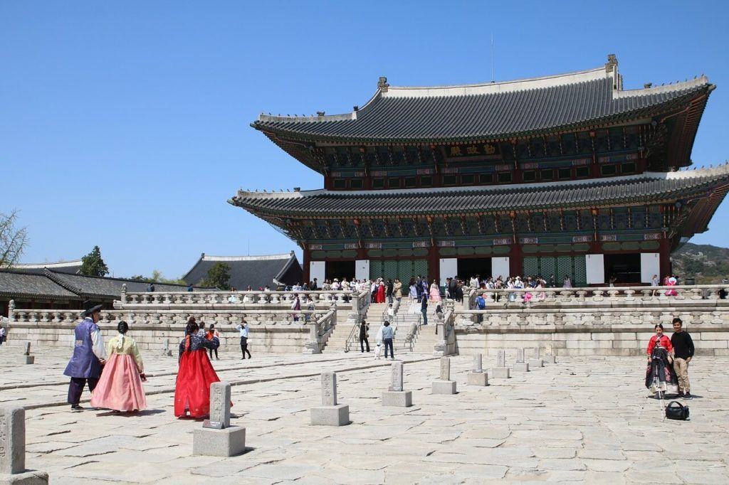 Gyeongbokgung Palace, the biggest of the Five Grand Palaces in Seoul