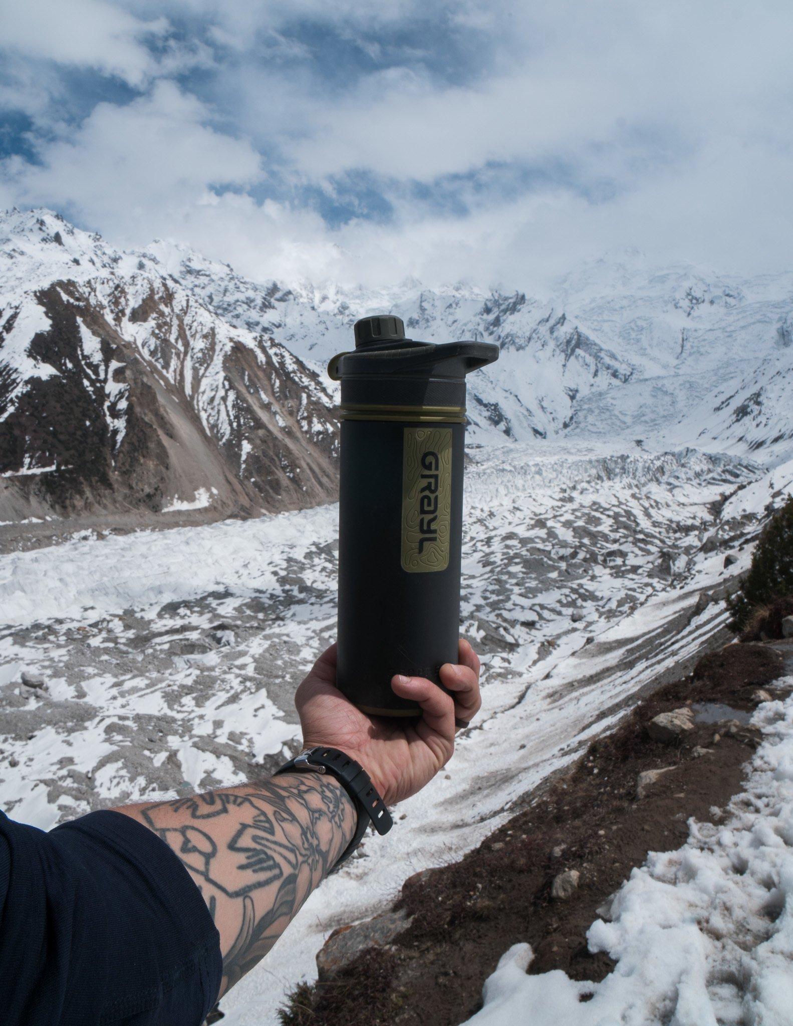 Grayl water bottle - best filtered water bottle for travel