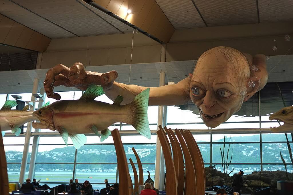 Wellington airport's Lord of the Rings location