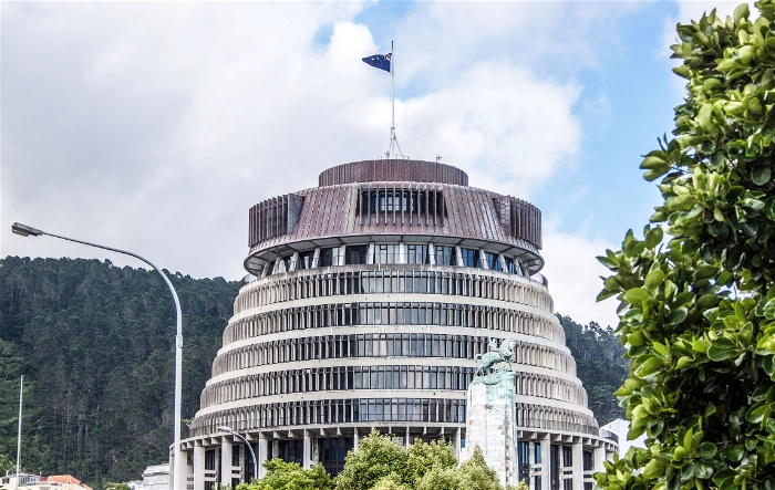 The Beehive is one of Wellington's tourist attractions