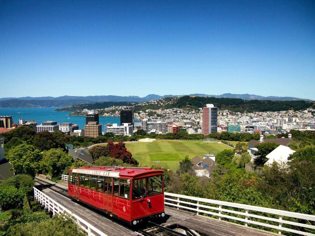 The Wellington cable car over Kelburn