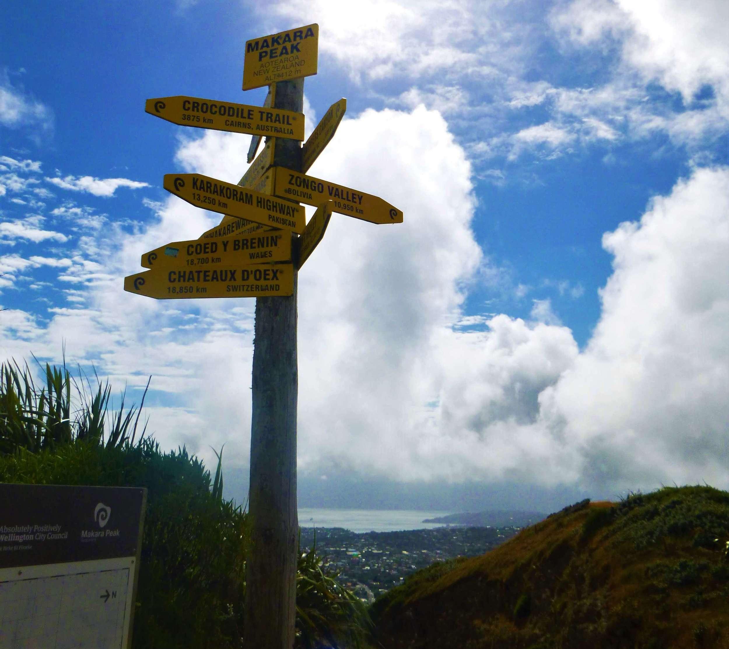 Walking in Wellington presents excellent vistas