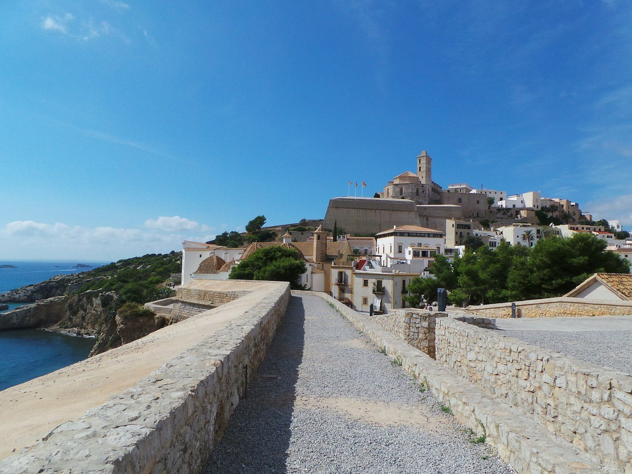 Hike up the Castle of Ibiza