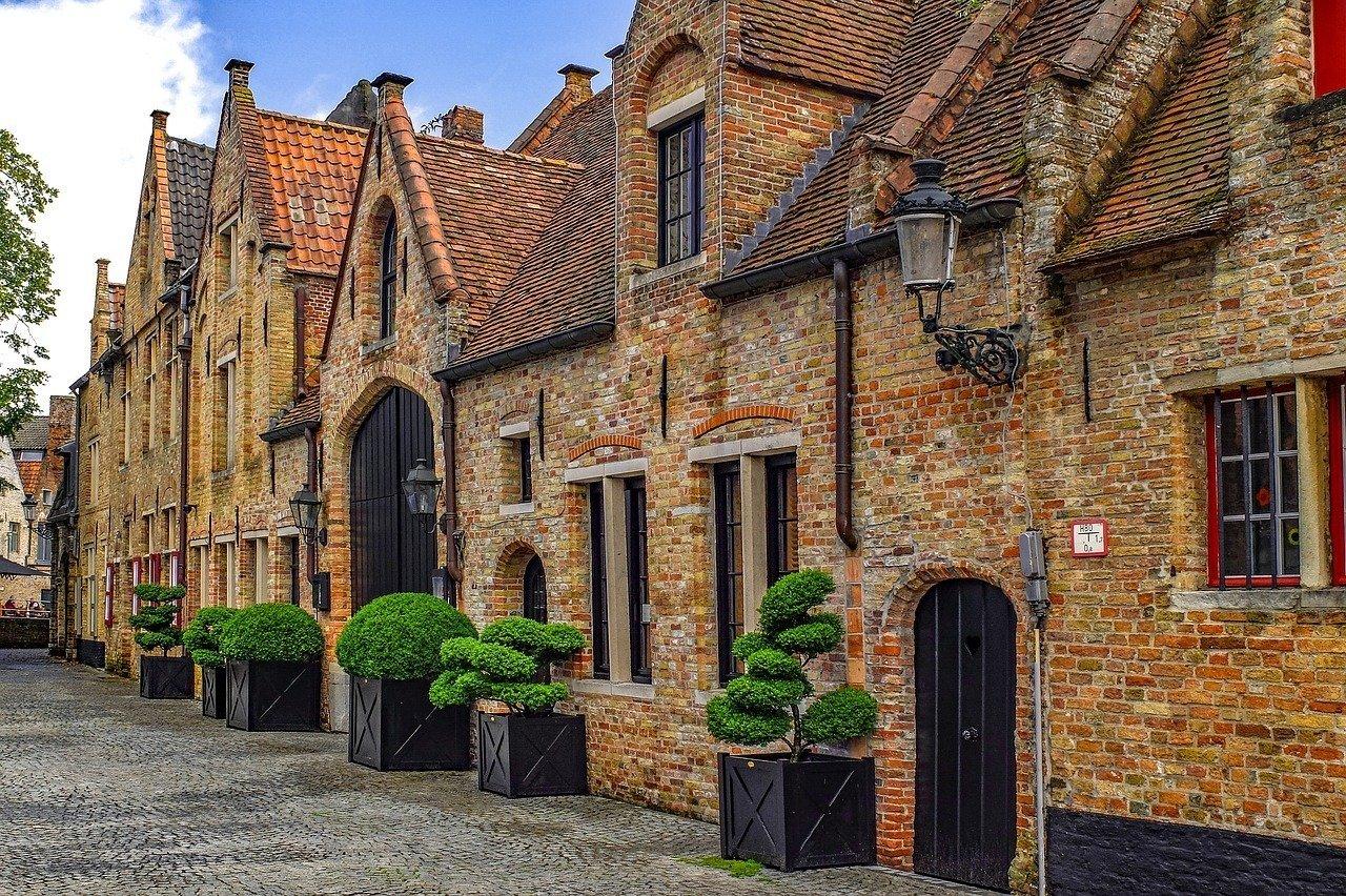Brick Houses in Bruges