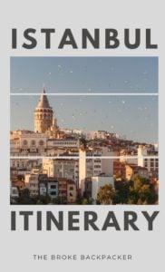 Istanbul Itinerary PIN
