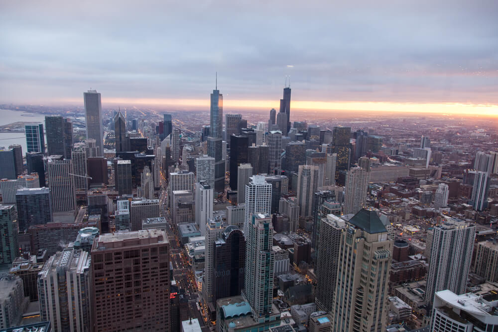 Stand Above the City Skyline at Chicago Sky deck
