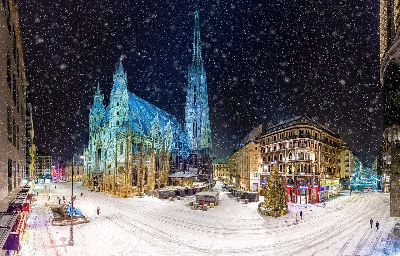 Vienna in winter christmas time