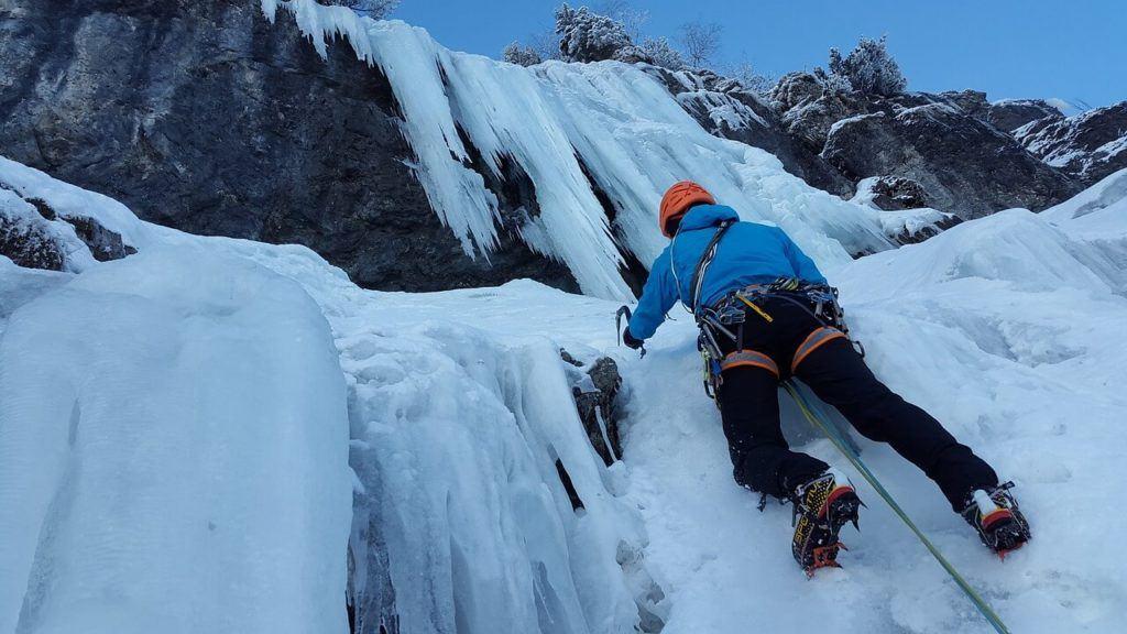 Climbing an ice waterfall is an ultimate bucket list idea
