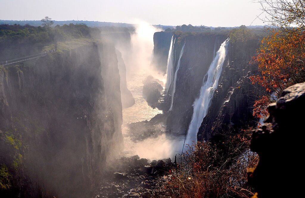Victoria Falls is a hotspot for adventure travel in Africa