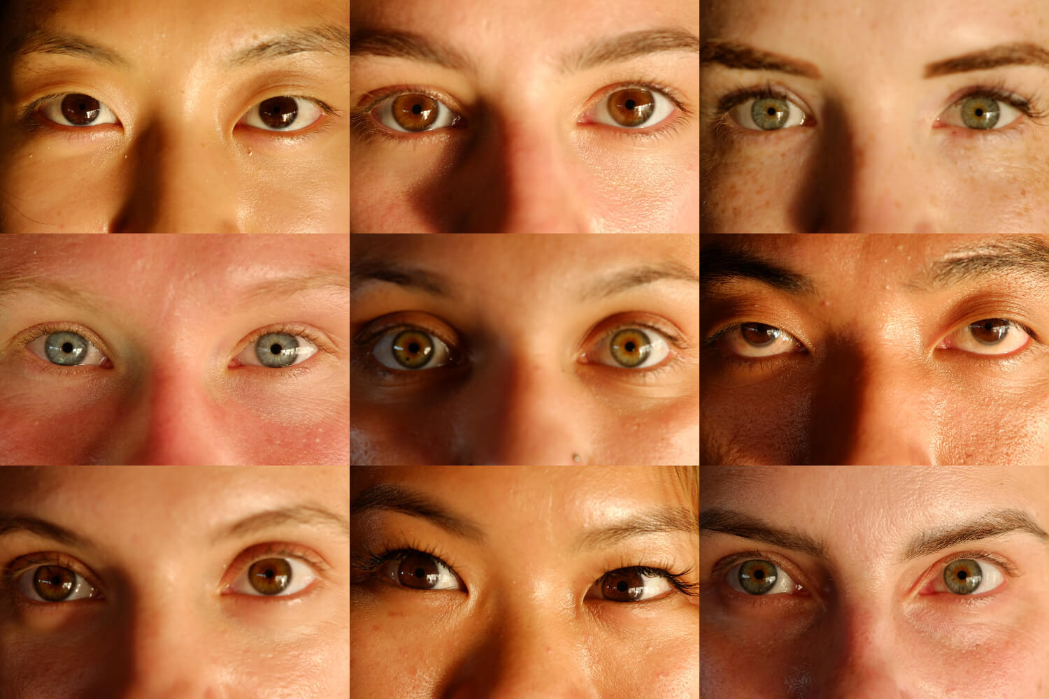 eyes collage of yoga students in bali