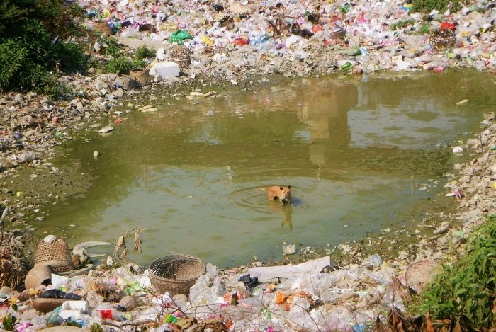 Plastic pollution and landfill in India