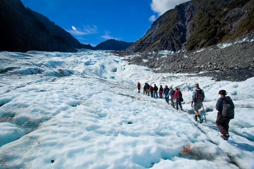 The West Coast glaciers are considered a must go for anyone backpacking that region of New Zealand