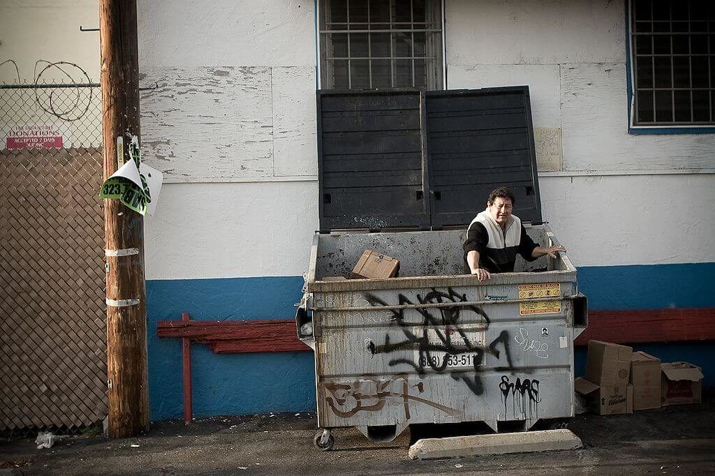 Dumpster diving is a budget tip for backpacking the Sunshine Coast cheap