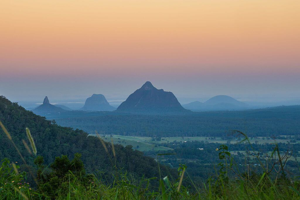 Don't skip the Glass House Mountains while backpacking through the Sunshine Coast