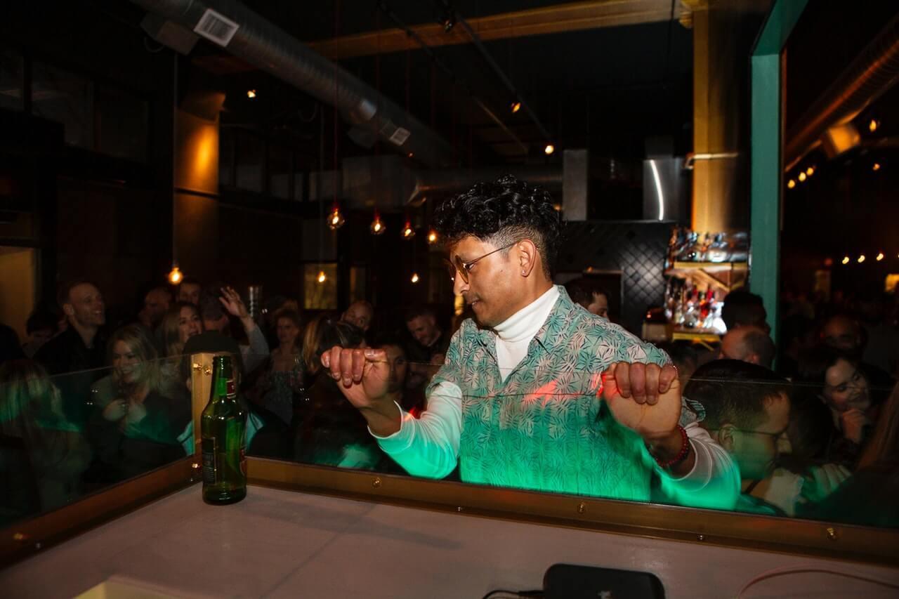 Man dancing at popular party spot in Sri Lanka