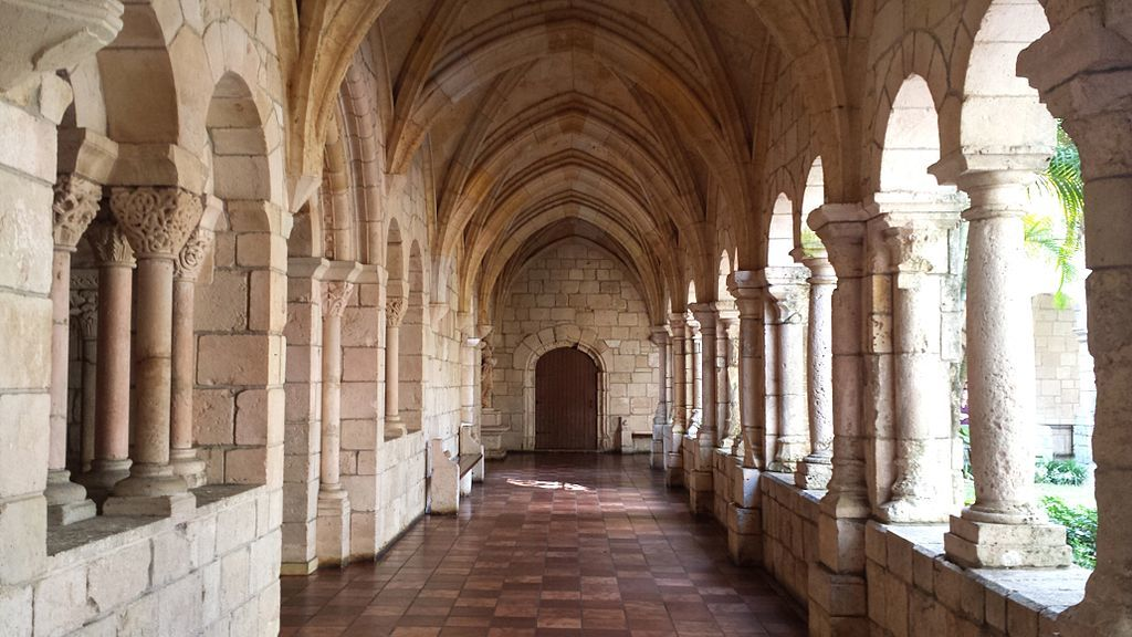 The Cloisters of the Ancient Spanish Monastery