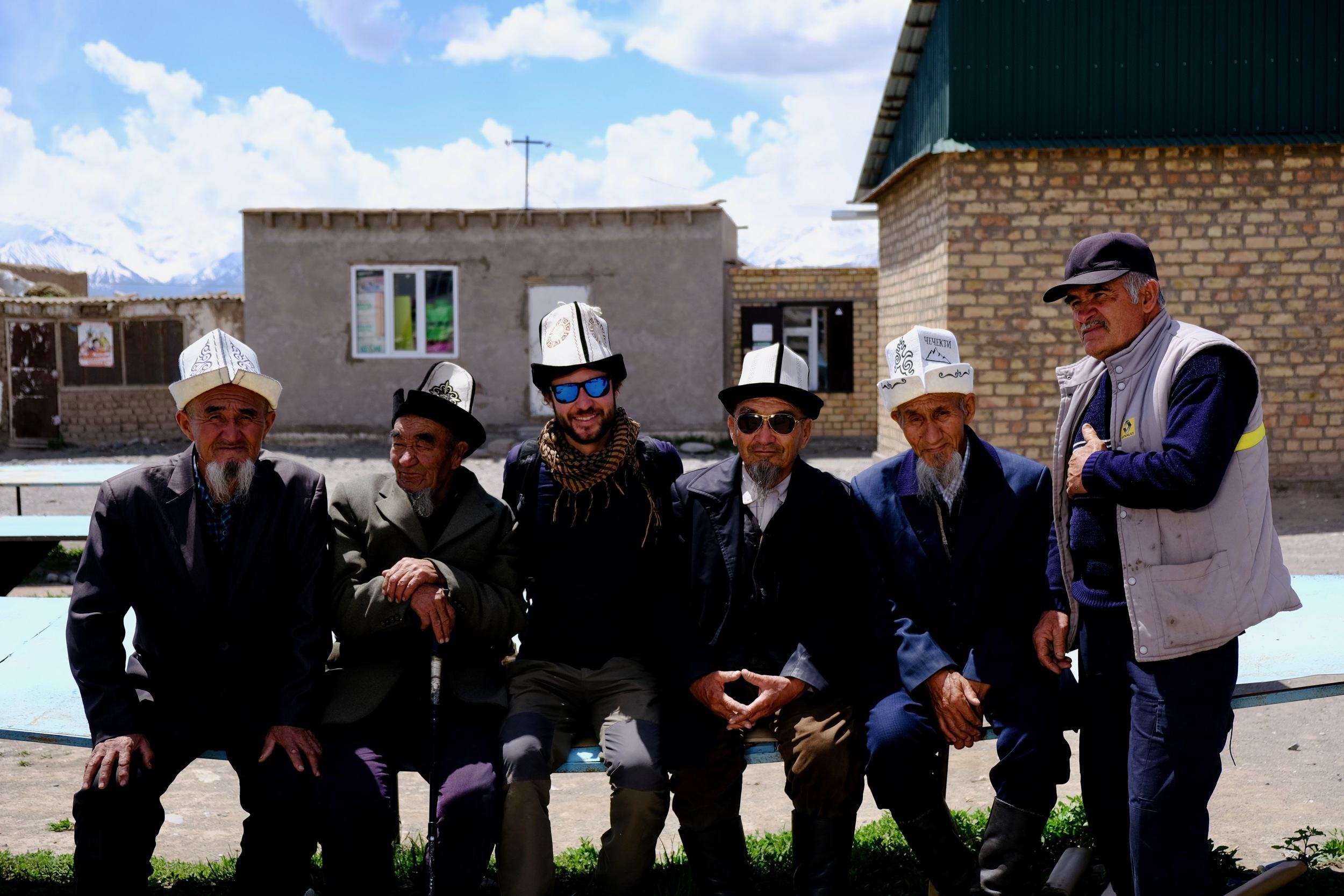 hanging out with locals in kyrgyzstan