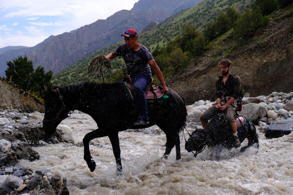 riding a horse safely in kyrgyzstan