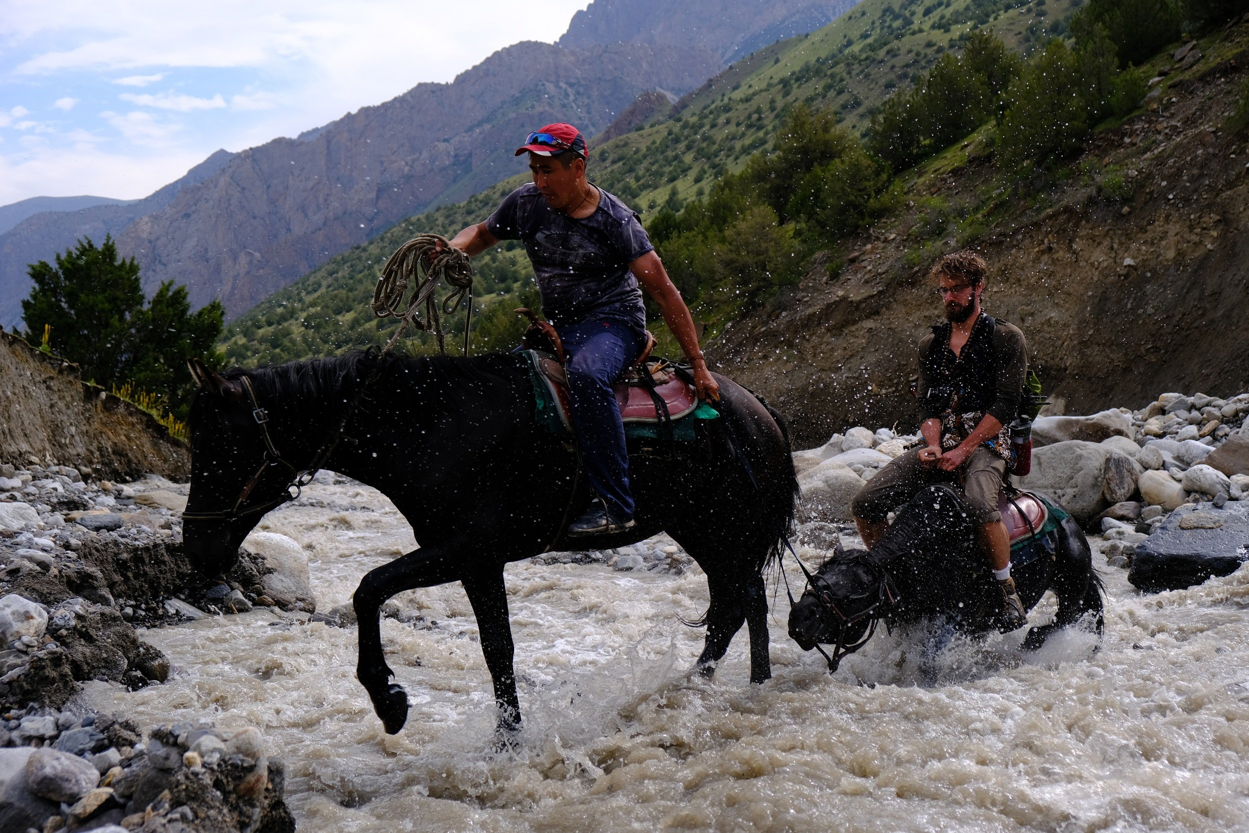 riding a horse safely in kyrgyzstan