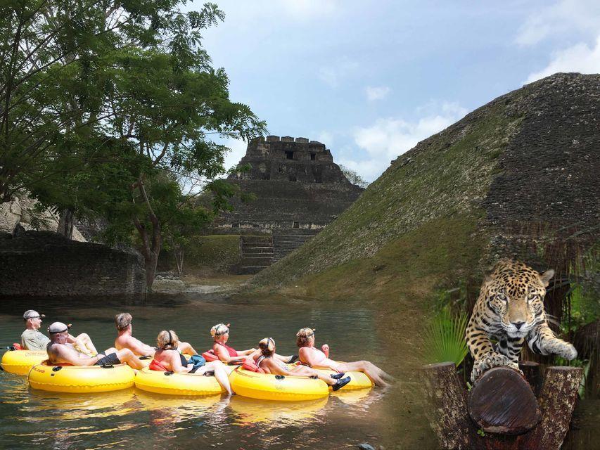 Xunantunich Cave Tubing and Belize Zoo Tour