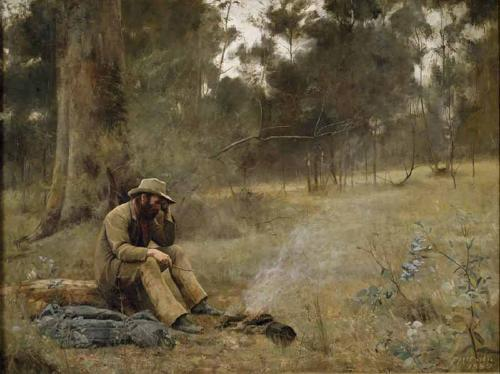A swagman sad about his failing backpacker blog