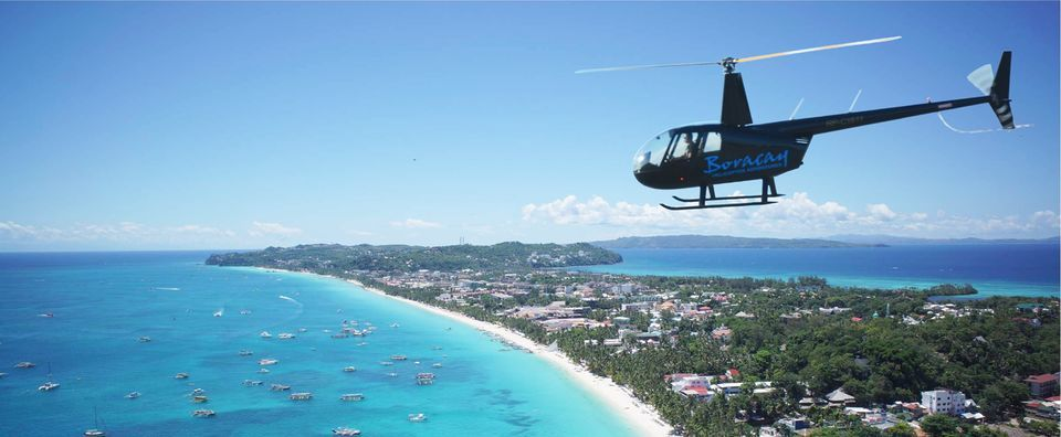 Boracay: Helicopter Sightseeing Tour with Hotel Pickup