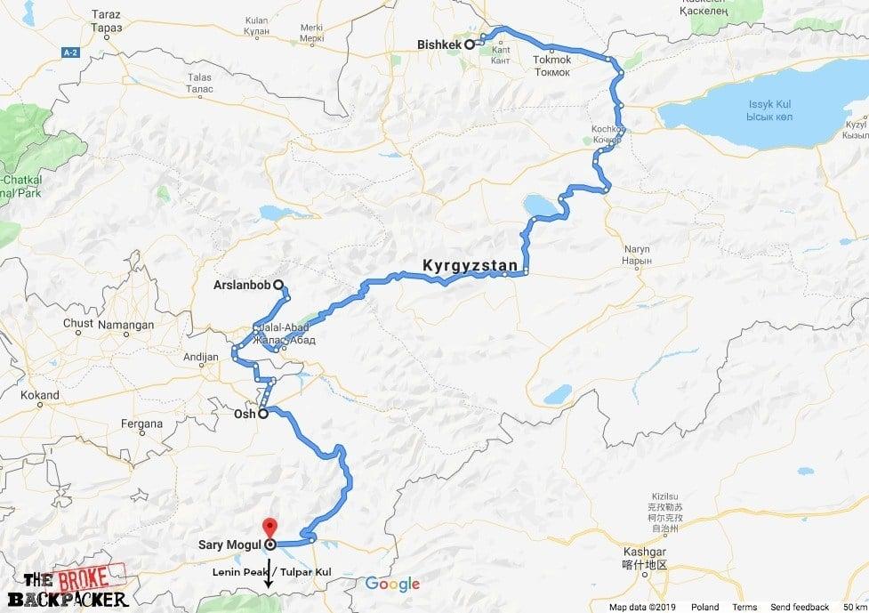 Kyrgyzstan itinerary