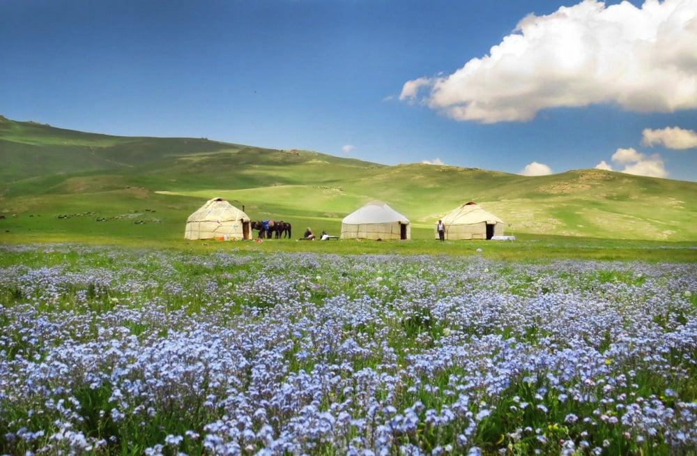 kyrgyzstan in summer