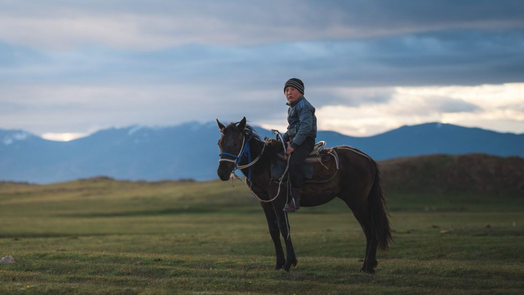 young nomad in kyrgyzstan song kul