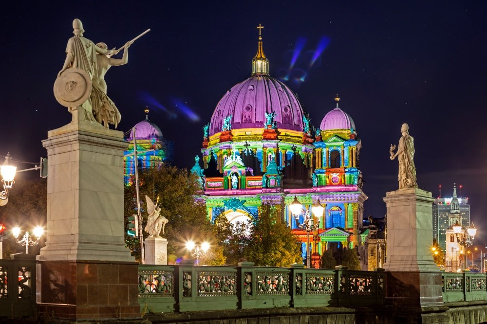 Cruise around Berlin while watching the Festival of Lights.