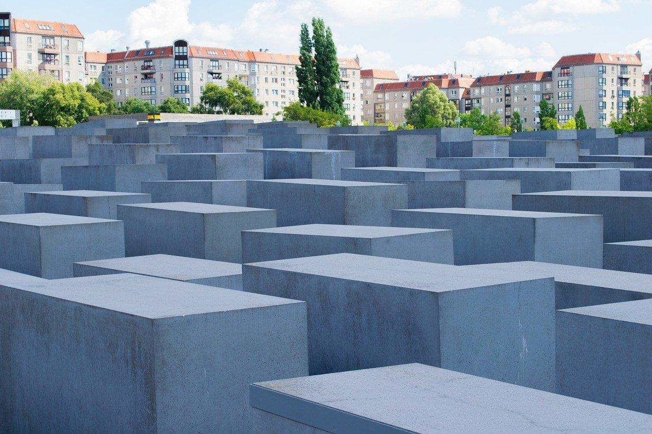 Wander around the Holocaust Memorial in Berlin.