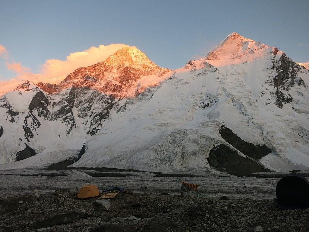 khan tengri at sunrise