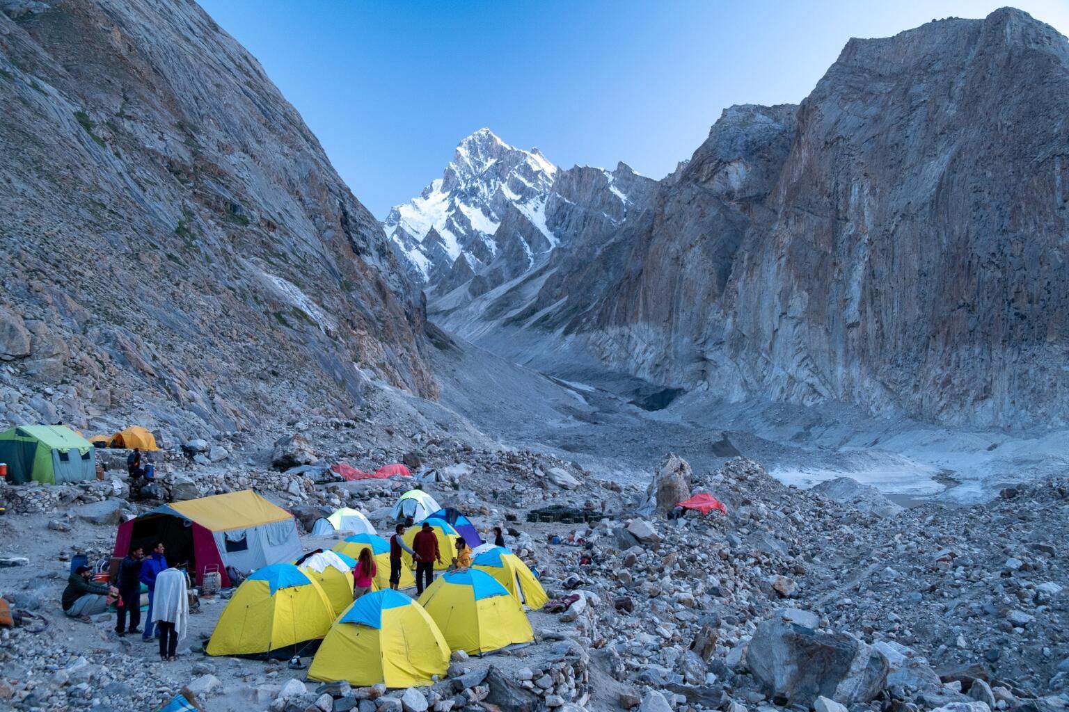 k2 trek camping