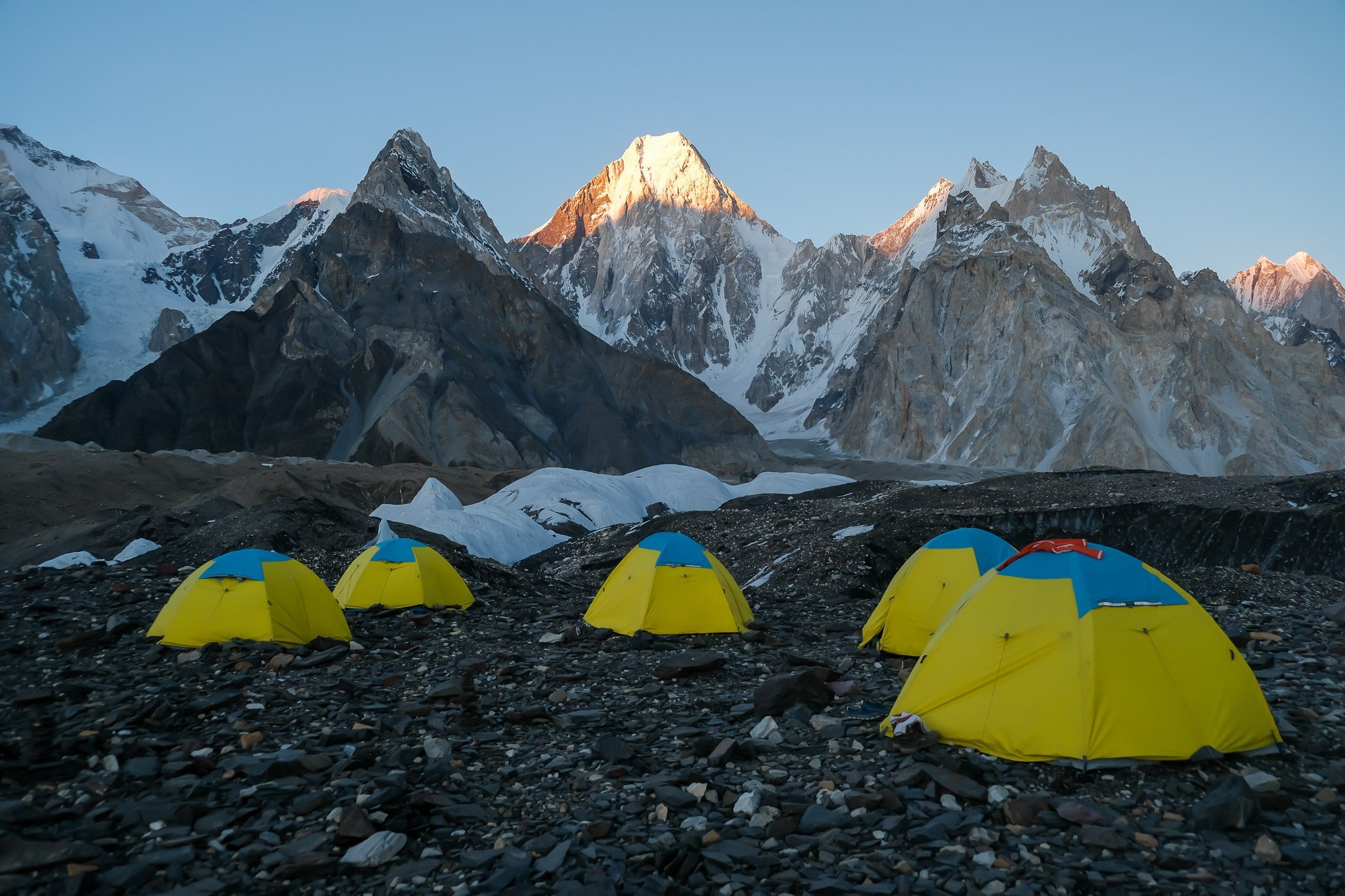 A group of the best hiking tents at K2