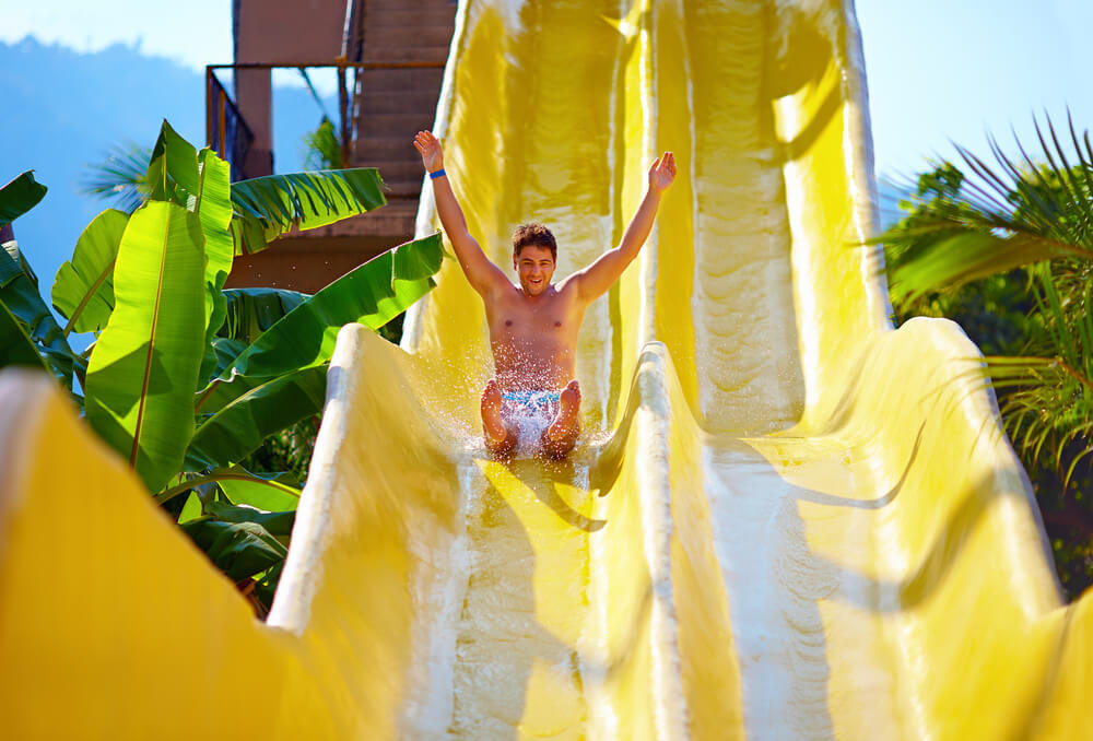 Have an amazing day on the jungle waterslides
