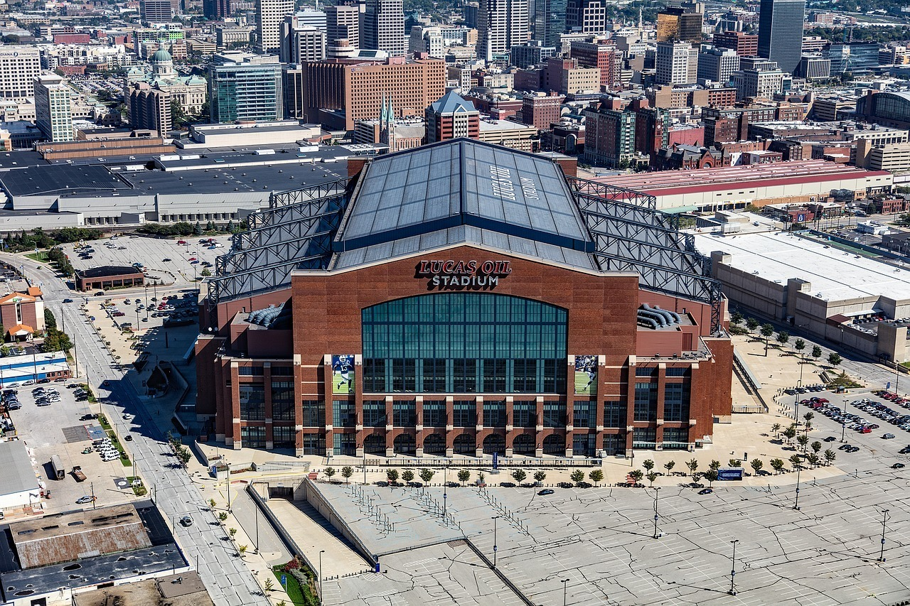 Attend a football game at Lucas Oil Stadium in Indianapolis.