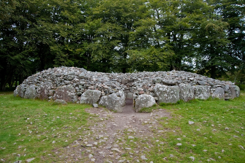 Visit the final resting places of Bronze-Age Highlanders at Clava Cairns in Inverness.