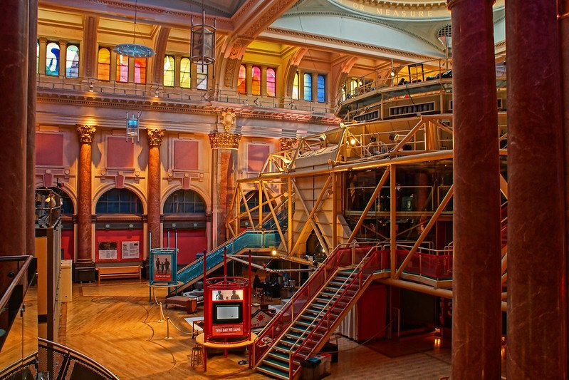 Watch a play at the Royal Exchange Theater in Manchester.