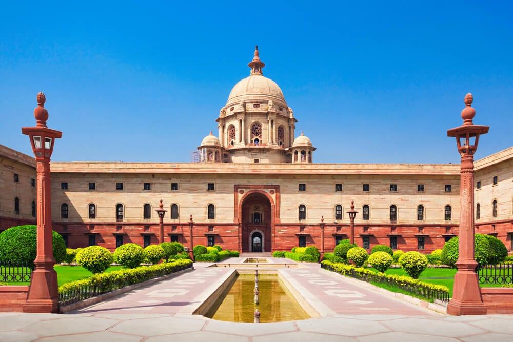 See the presidential palace Rashtrapati Bhavan