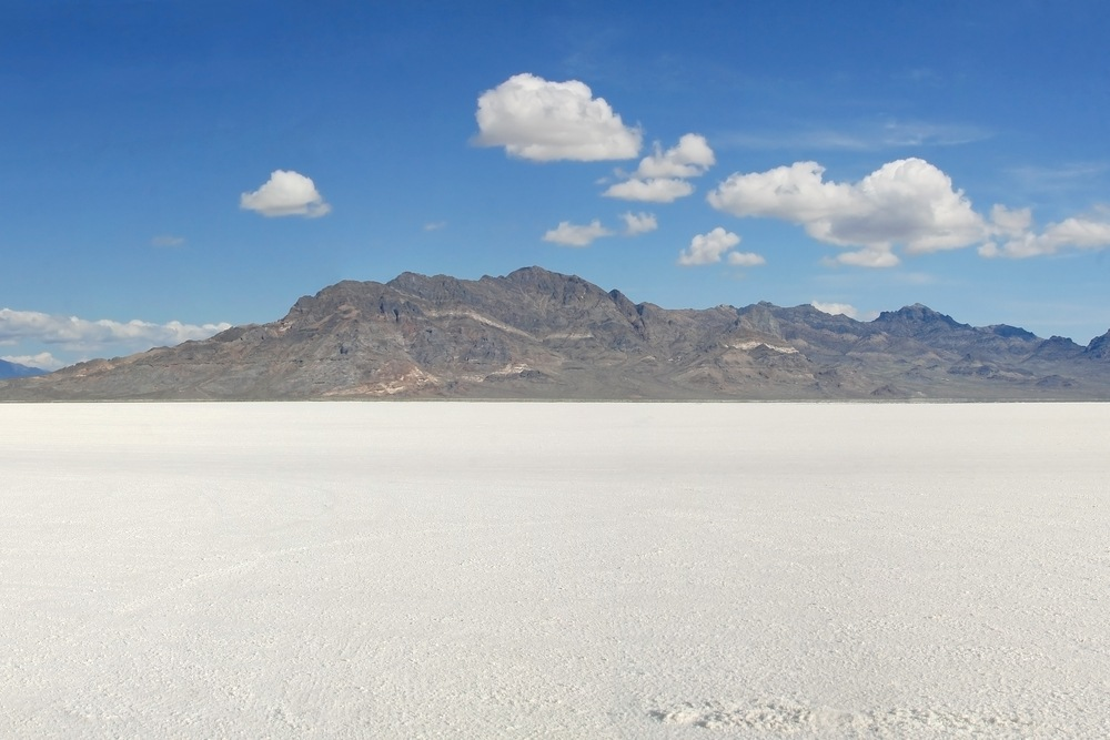 Walk around the Bonneville Salt Flats in Salt Lake City.