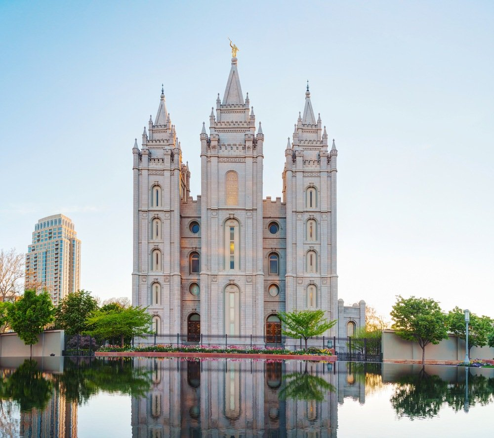 Flagship temple of Mormons in Salt Lake City.