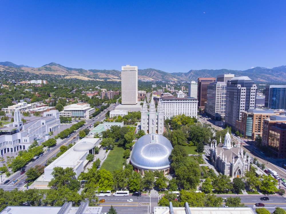 Explore the Temple Square in Salt Lake City.