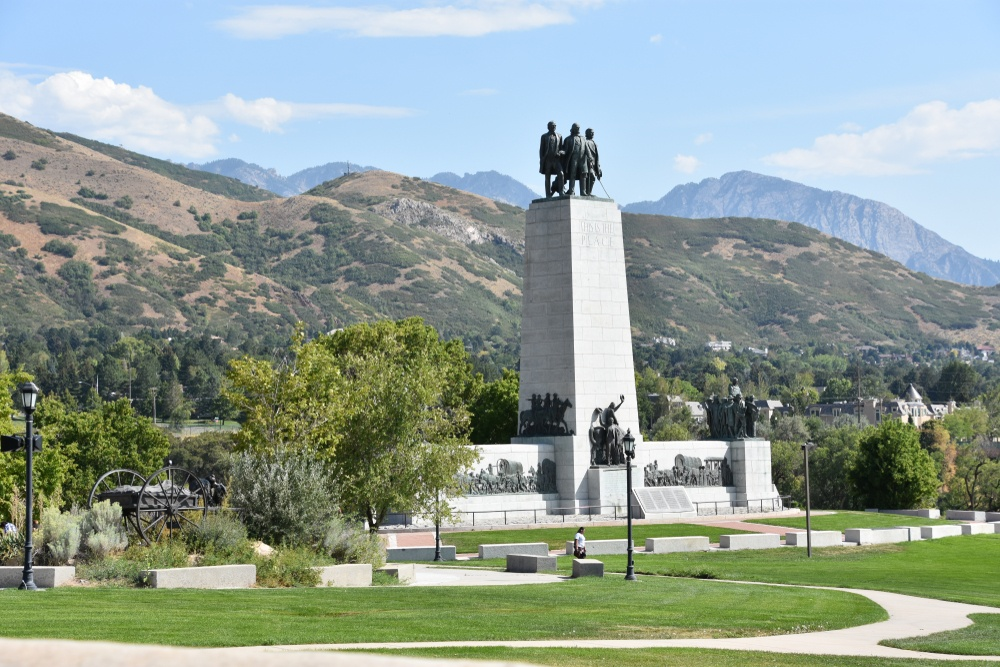 Visit the This is the Place Monument in Salt Lake City.