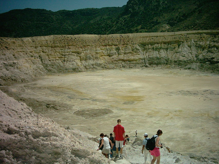 Walk inside the crater of an actual volcano