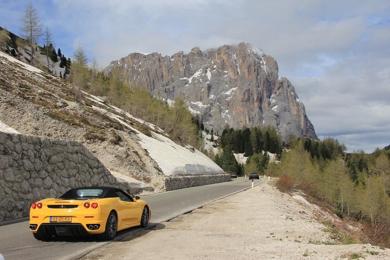Drive Along Winding Roads in A Sports Car