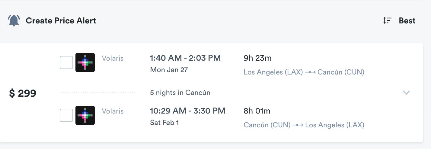 kiwi.com booking alert