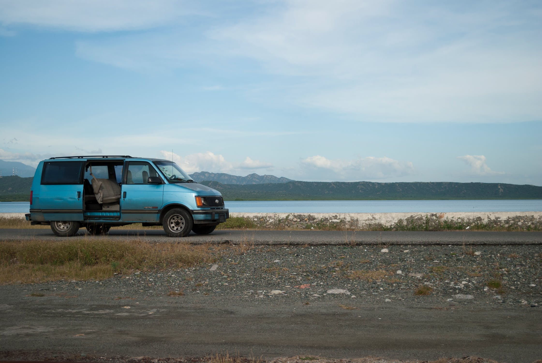 A road trip van without any gear packing