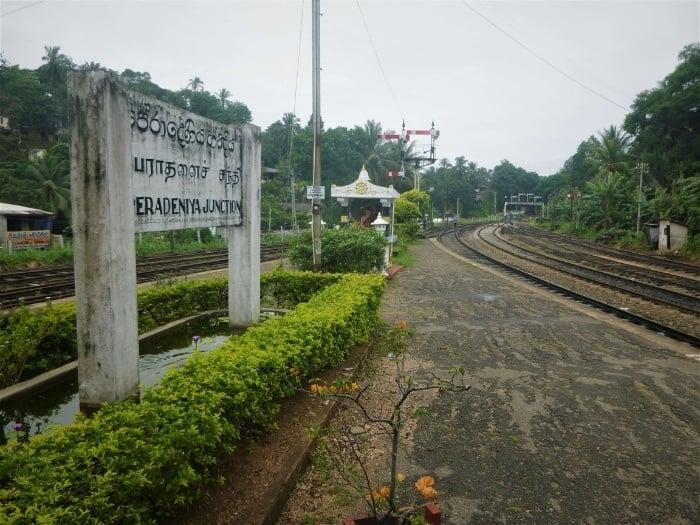Peradeniya to Ella train from the junction