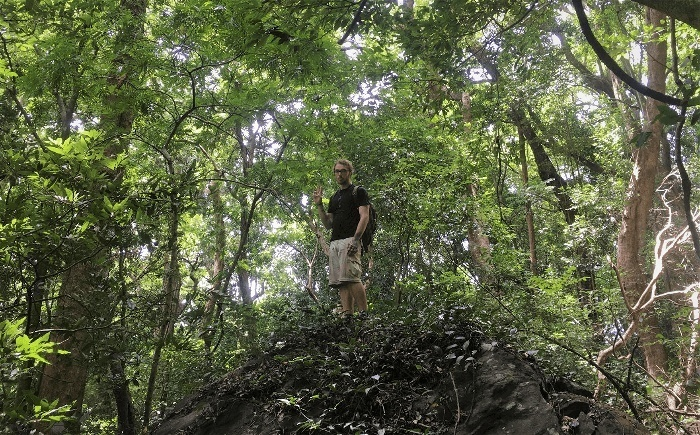 A man exploring the the hidden jungle places of Sri Lanka